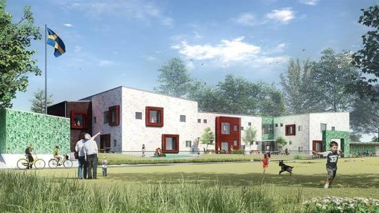 Nya förskolan Drottninghög House Arkitekter.