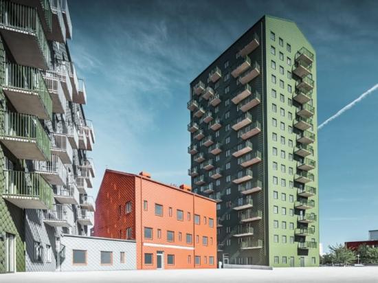 Kvarteret Dockan, Göteborg, Fasadmaterial: Aluminium, Arkitektbyrå: White, Byggherre: Skanska Nya Hem.