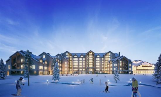 Nya SkiStar Lodge i Hundfjället (bilden är en illustration).