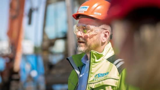 Michael Eng, Filialchef på Stena Recycling i Borås, och en av de drivande personerna som vill öka återvinningen av stenull inom byggbranschen.
