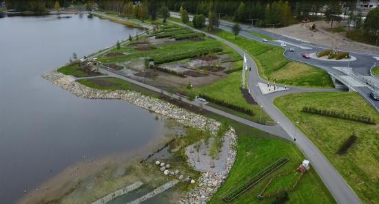 Östra länken nya parkområdet Luleå kommun.