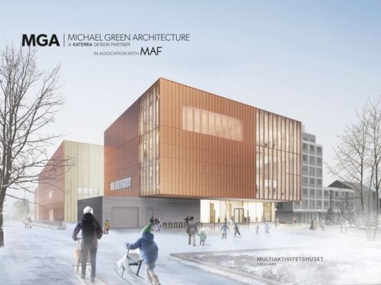 Visionsbild övermultiaktivitetshuset i Gällivare (bilden är en illustration).