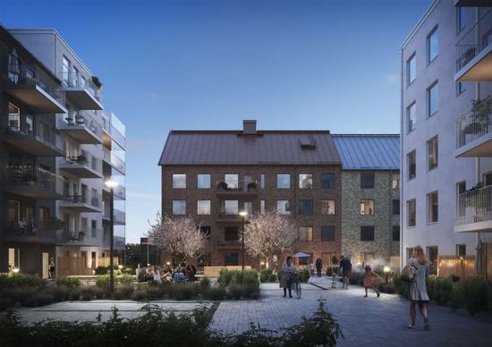 Visionbild över nya projektet i Nya Hovås (bilden är en illustration).