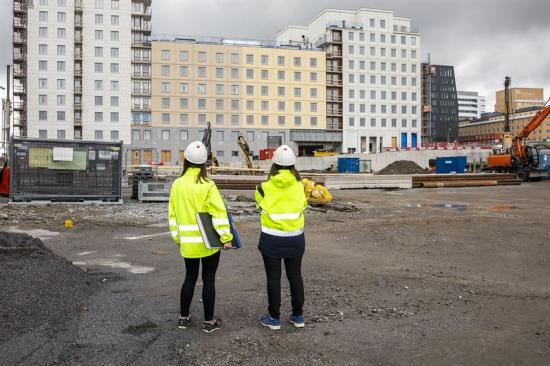 SKB har tre pågående byggprojekt just nu. I Hagastaden byggs kvarteret Lysosomen med 128 kooperativa hyresrätter.
