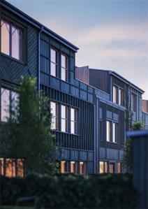 Arkitektritade radhus på Brunnshög i Lund.