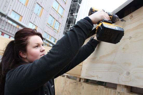 Stephanie Olsson, ledamot i Nätas styrgrupp, som är Byggnads nätverk för kvinnliga medlemmar.