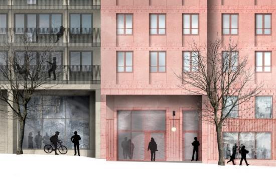 Gröna obligationer bidrar till att finansiera SKBs miljöcertifierade och energieffektiva byggnader, som kvarteret Lysosomen i Stockholm.