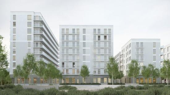 Flanören är HMB Constructions tredje projekt för Wallenstam i Uppsala och det andra i Rosendal, där HMB byggt 141 hyresrätter i en tidigare etapp.