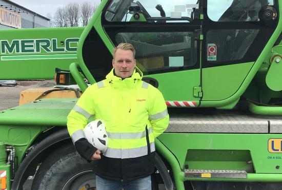 Pontus Överhem, affärsområdeschef för Linotols nya affärsområde Armerad Betong.