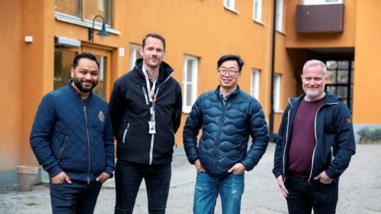 Saud Hossain, Elektroskandia, Robin Elghorn, Netel, Hans Kärrman, Tele2 och Magnus Hagstedt, Elektroskandia.