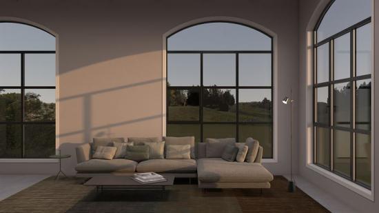 Sapa Fönster 1086 Vintage är ett högisolerat fönster i aluminium i gammaldags stil (bilden är en illustration).