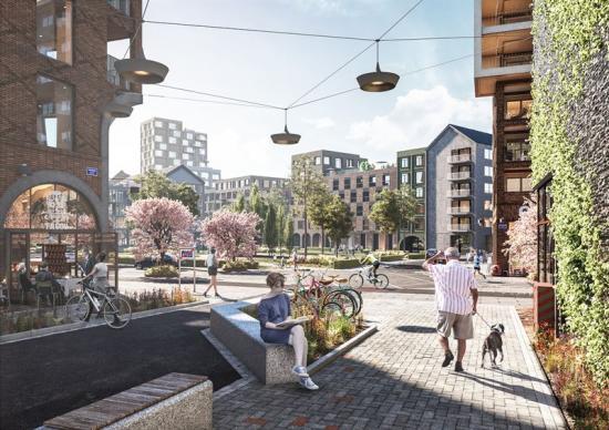 Visionsbild över Södra Änggården (bilden är en illustration).