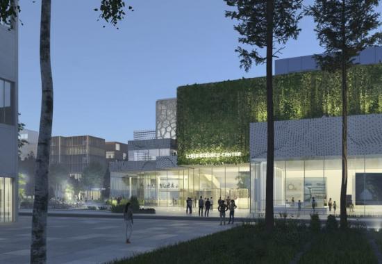 Nytt Science Center i Lund och Science Village. Exteriörvy från Norra Parken av tävlingsförslaget Vetenskap och Natur i Synergi.<br />