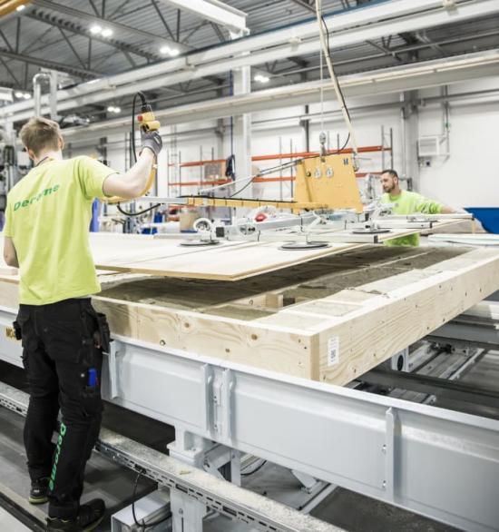 Deromes volymhusfabrik i Värö.