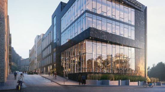 Kallebäcks Terrassers kontorsbyggnad kommer att ligga i direkt anslutning till E6:an och riksväg 40, med närhet till både Landvetter flygplats och Centralstationen.