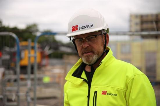 Byggnads förbundsordförande Johan Lindholm.