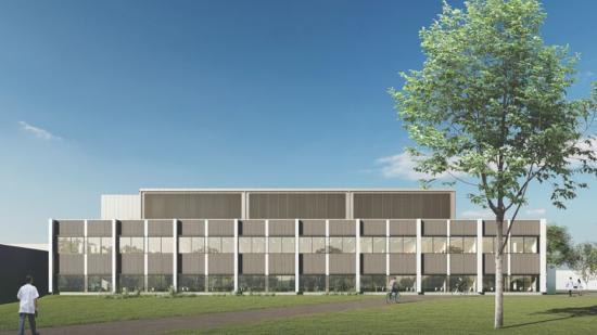 Visionsbild över Research Hub, Uppsala Business Park(bilden är en illustration och avvikelser i verkligheten kan förekomma).