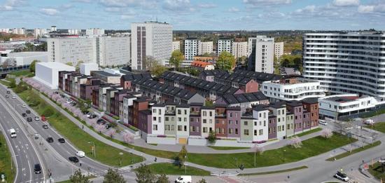 21 nya, moderna stadsradhus kommer byggas i Vällingby, Stockholm (bilden är en illustration).
