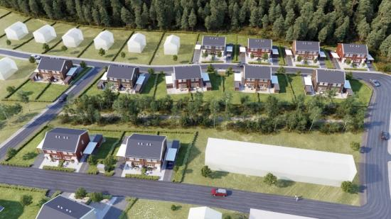 Projektet är del av OBOS utveckling i området om sammanlagt 140 nya bostäder (bilden är en illustration).