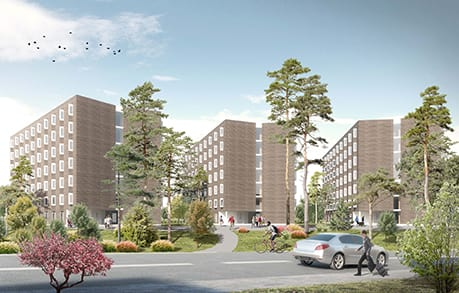Akademiska Hus bygger 322 forskarbostäder vid Karolinska Institutet.