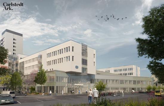 Mälarsjukhuset E62, huvudentré(bilden är en illustration).