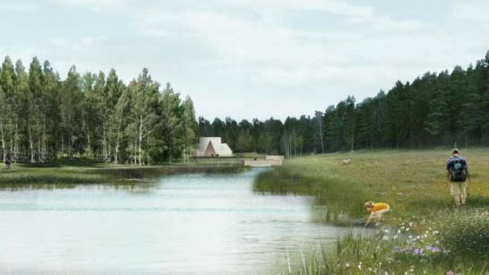 Två reningsdammar på sammanlagt 3,3 hektar ska hantera lakvatten från gravar och föroreningar från tippmarken i projekt Järva begravningsplats.