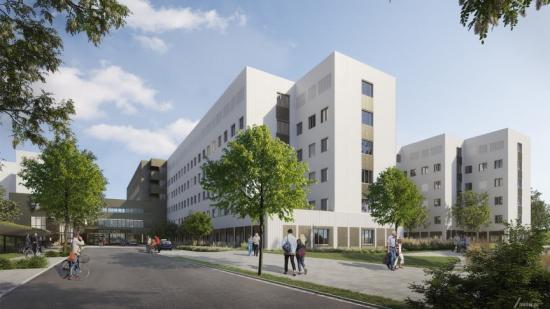 Nytt akutsjukhus Västerås Exteriör (bilden är en illustration).