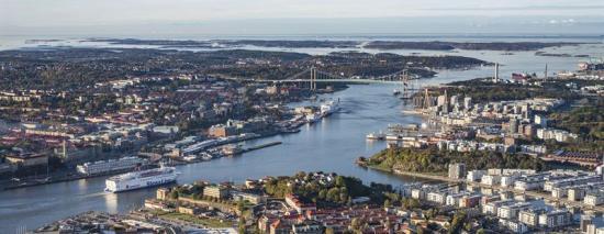 Göta älv i Göteborg.