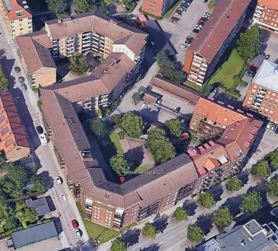 Hustaken på Hebsackersgatan 2 till 10 på Olympia i Helsingborg får solceller på taket.