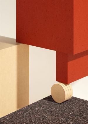 I Tarketts Circular Collection finns återvinningsbara material av vinyl, linoleum och textil. Tolkat av Note Design Studio i Tarketts inspirationsmagasin PLAY.