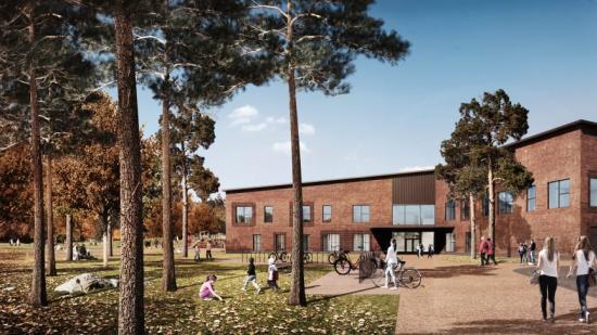 Den nya Metsäkalteva-skolan i Hyvinkää, är en av fastigheterna som kommer att anslutas till Nuuka molntjänst.