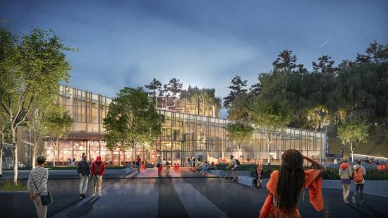 Visualisering av Kulturhuset Bergsjön. Planerad byggstart 2020.