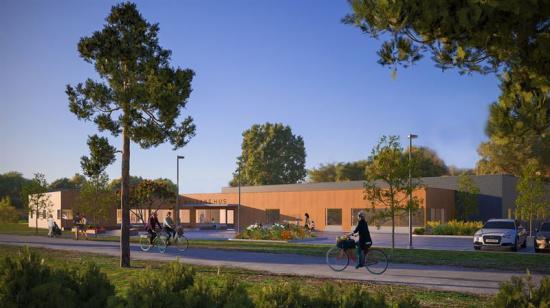 Serneke kommer att bygga Hälsans hus och Studio Ekberg är arkitekt, förhoppningen är att huset ska stå färdigt i början av 2023. I anslutning planeras även nya bostäder och en Hälsans park, med fokus på fysisk aktivitet (bilden är en illustration).