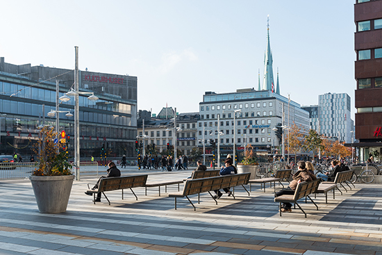 Området Klarabergsgatan, nominerad till Trafikverkets arkitekturpris.