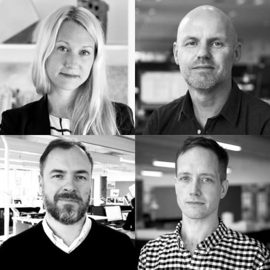 Fr. vänster: Kristina Peters, Håkan Sandhagen, Eric Engström, Viktor Ahnfelt.