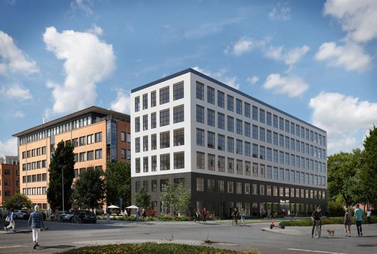 Visionsbild över Muninhuset, Munin NXT, som ska byggas i Uppsala (bilden är en illustration).