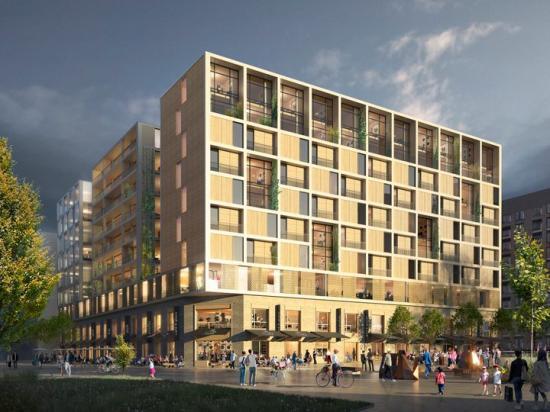 Tricoreal utvecklar kvarteret MITTEN i Barkarby tillsammans med Arcona, Gatun Arkitekter och Genesta Property.