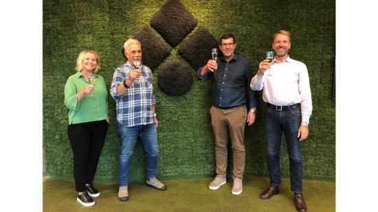 Från vänster: Camilla Ljungberg, Michael Klevbrant, Nowak Ljungberg och Marcus Rydbo.