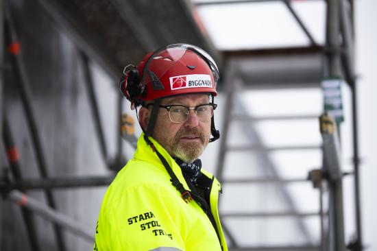 Johan Lindholm, förbundsordförande Byggnads