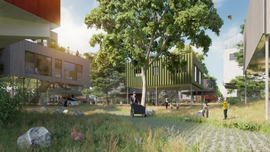 Trädhusstaden - vision om framtidens boende.
