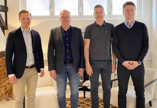 Rörmokaren går in i Instalco, från vänster: Gustaf Larsson Ernefelt, Mathias Asplund, Kenneth Nilsson och Peter Hjerpe.