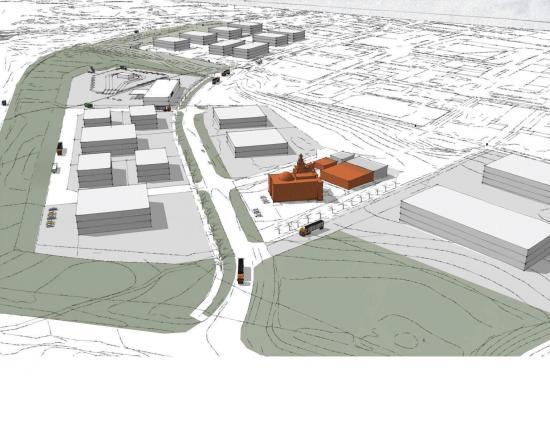 Skiss över delar av nya Elisedal i Malmö, som är MVBs hittills största projekt.