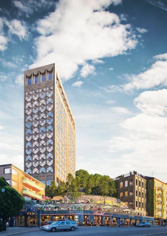 Hotellet planeras bli 16 våningar högt som ger plats för 200 rum. Dessutom ska det finnas en stor och harmonisk parkträdgård med bland annat orangeri och plats för yoga under träden. I fastigheternas befintliga byggnader vid gatuplan planeras det för ett restaurangkluster.
