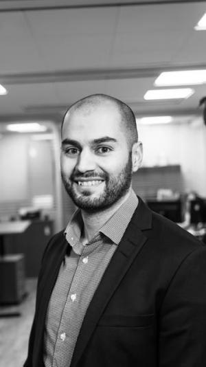 Nima Assadi, projektutvecklare hos Sehlhall Fastigheter.