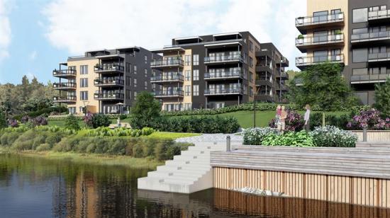 Visionsbild över Osebakken Park II (bilden är en illustration).