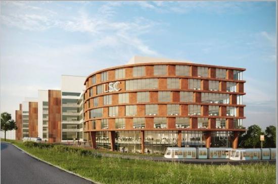 Visionsbild över kontorsbyggnaden LSC (bilden är en illustration).