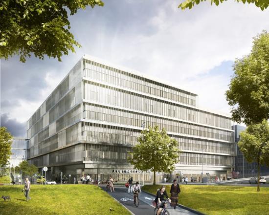 Nya akutvårdsbyggnaden vid Danderyds sjukhus.