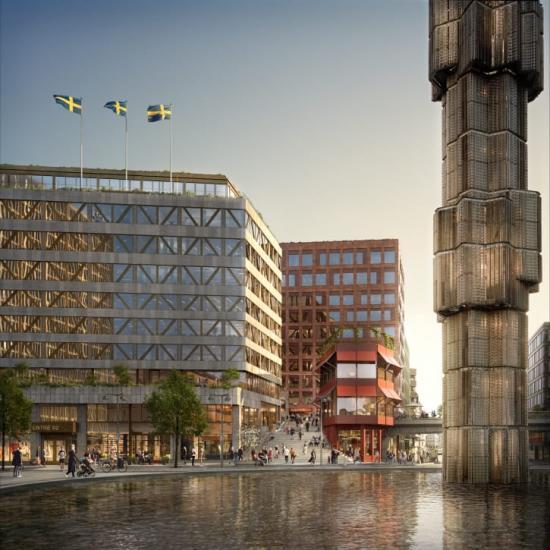 Assemblin ansvarar för konstruktion och installation gällande värme, sanitet och kyla i Sergelhuset i Stockholm.