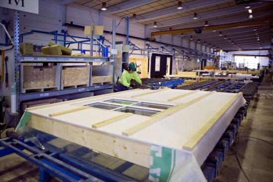 BoKloks fabrik i Gullringen