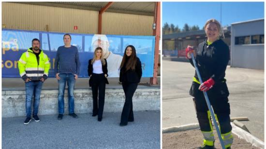 Oskar Ekström, vd på NEK, Fredrik Eklund, rektor vid Astar i Luleå, Fanny Skott, kundansvarig Professionals Nordoch Elin Rubin, Konsultchef, nöjda med utbildningen, där Josefine Pettersson (till höger) går mot en anställning efter en snabbutbildning.